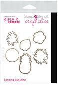 Rina K. Designs StampnStencil Die Set, Sending Sunshine
