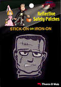 Frankenstein Halloween Reflective Patch (12 packs included)