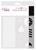 Rina K. Designs StampnStencil Detail Stencil, Sweet Stuff