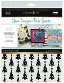 Deco Foil Clear Toner Sheets - O' Christmas Tree