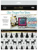 Deco Foil Clear Toner Sheets - Rustic Winter