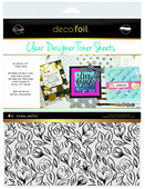 Deco Foil Clear Toner Sheets - Floral Sketch