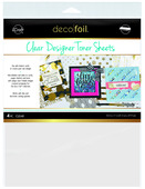 Deco Foil Clear Toner Sheets - Clear