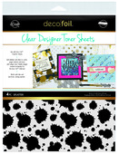 Deco Foil Clear Toner Sheets - Splatter