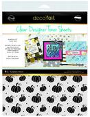 Deco Foil Clear Toner Sheets - Pumpkin Patch