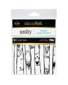 Deco Foil Toner Card Fronts By Unity, Heart Trees