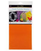 Deco Foil Flock Transfer Sheets – Orange Glow