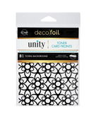 Deco Foil Toner Card Fronts By Unity, Floral Background