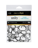 Deco Foil Toner Card Fronts By Unity, Flowers and Lines