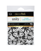 Deco Foil Toner Card Fronts By Unity, Butterfly Fly Away