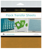 Deco Foil Flock Transfer Sheets – Tuscan Gold
