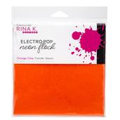 Rina K. Designs Neon Flock Sheets, Orange Glow