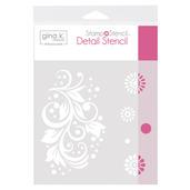 Gina K. Designs StampnStencil Detail Stencil - Crazy Daisy