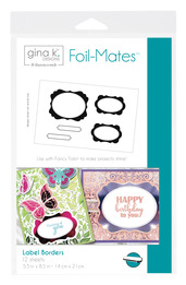 Gina K. Designs Foil-Mates™ • Label Borders