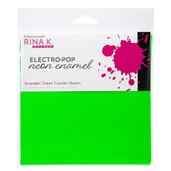 Rina K. Designs Neon Enamel Transfer Sheets, Screamin' Green