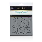 Deco Foil Pinwheels Stencil
