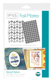 Gina K. Designs Foil-Mates™ Backgrounds • Harvest Texture