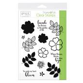 Gina K. Designs StampnFoil Stamp Set • Where Flowers Bloom