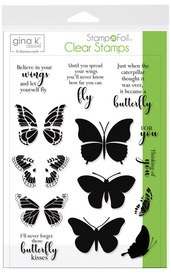 Gina K. Designs StampnFoil™ Stamp Set • Butterfly Kisses