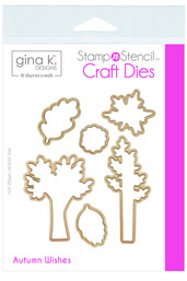 Gina K. Designs StampnStencil Die Set - Autumn Wishes