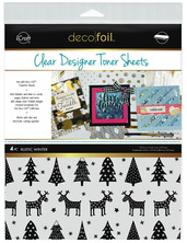 Deco Foil™ Clear Toner Sheets • Rustic Winter