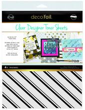 Deco Foil™ Clear Toner Sheets • Pinstripes