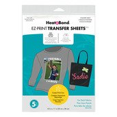 HeatnBond EZ Print Inkjet Transfer Sheets • For Dark Colored Fabrics