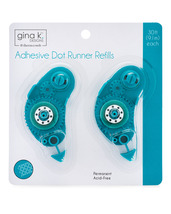 Gina K. Designs Permanent Adhesive Dot Runner Refills, 2 pack