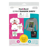 HeatnBond EZ Print Inkjet Combo Pack Transfer Sheets • For Light & Dark  Colord Fabrics
