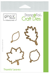 Gina K. Designs StampnFoil™ Die Set • Thankful Leaves