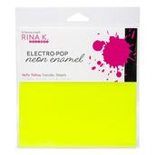 Rina K. Designs Neon Enamel Transfer Sheets, Hello Yellow