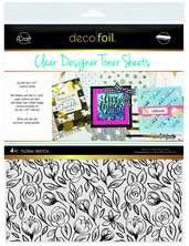 Deco Foil™ Clear Toner Sheets • Floral Sketch