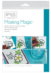 Gina K. Designs Masking Magic Sheets 5 in x 7 in  (12 sheets)