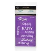Deco Foil™ Happy Stencil