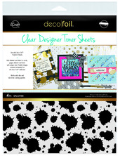 Deco Foil™ Clear Toner Sheets • Splatter