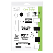 Gina K. Designs StampnFoil™ Stamp Set • Time To Celebrate