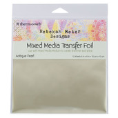 "Rebekah Meier Designs Transfer Foil 6"" x 6"" (12 sheets per pack) • Antique Pearl (Satin)"