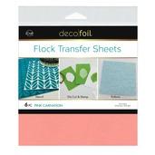 Deco Foil Flock Transfer Sheets – Pink Carnation