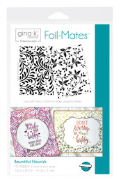 Gina K. Designs Foil-Mates™ Backgrounds • Bountiful Flourish