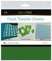 Deco Foil Flock Transfer Sheets – Emerald Green