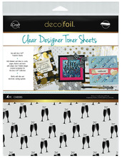 Deco Foil™ Clear Toner Sheets • Cheers