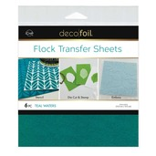 Deco Foil Flock Transfer Sheets – Teal Waters