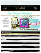 Deco Foil Clear Toner Sheets - Distressed Lines