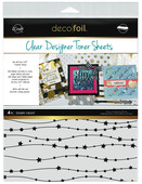 Deco Foil Clear Toner Sheets - Starry Night