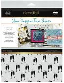 Deco Foil Clear Toner Sheets - Cheers