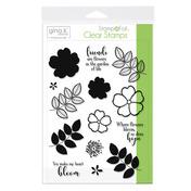 Gina K. Designs StampnFoil™ Stamp Set • Where Flowers Bloom