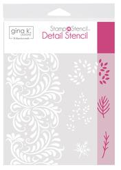 Gina K. Designs StampnStencil Detail Stencil - Autumn Wishes
