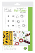 Gina K. Designs StampnFoil™ Foil-Mates Detail Sheet • Graphic Sunflowers