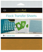 Deco Foil Flock Transfer Sheets – Tuscan Gold