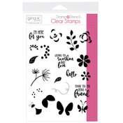 Gina K. Designs StampnStencil Stamp Set - Petals & Wings